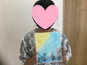 9月のクラフト教室はお月さまとうさぎのパステル画です。